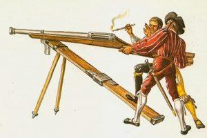 artillería mosquetes